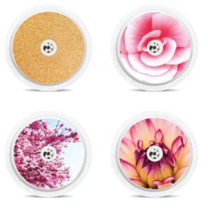 Set of 4 Pink & Gold Freestyle Libre Sensor Stickers